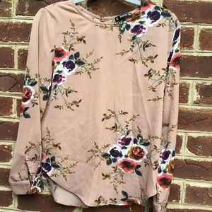 SHEIN Floral Long Sleeve Top